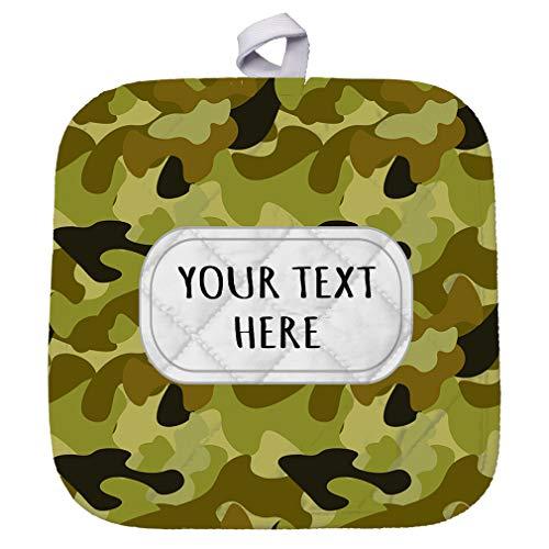 Polyester Pot Holder Custom Camouflage Design Seemless Pattern B Adults Trivets