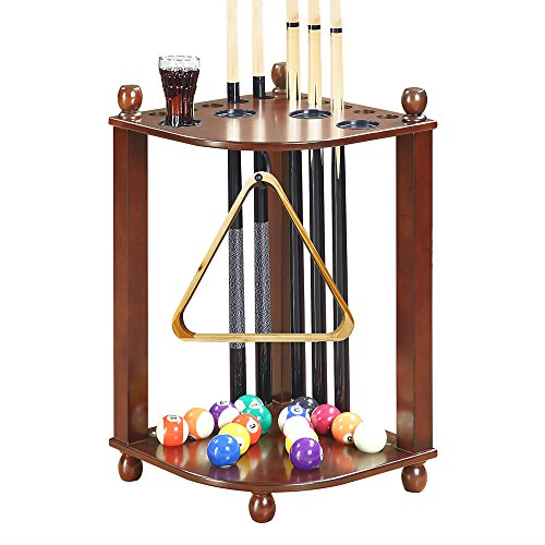 Hathaway Regent Corner Floor Cue Rack - Finish Walnut