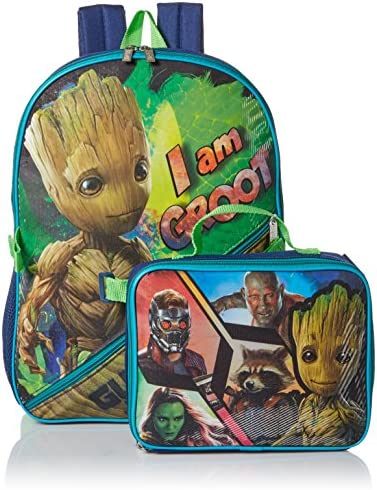 Marvel Boys' Guardians of The Galaxy Backpack with Lunch, blue