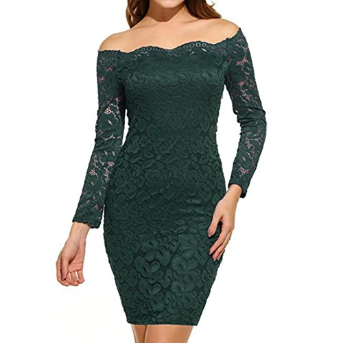 Kangma Women Vintage Off Shoulder Lace Evening Party Dress Long Sleeve Dress (Yellow And Gray Maxi Dress)