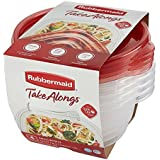 Rubbermaid TakeAlongs Small Food Storage Container Bowls, 3.2 Cup, Tint Chili, 4 Count 1779039