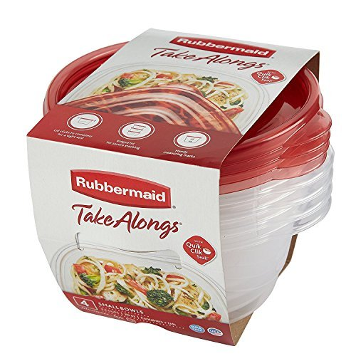 Rubbermaid TakeAlongs 3.2-Cup Round Container, Pack of 4 Rubbermaid Consumer 1779039