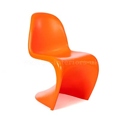 Verner Panton Style Classic U0027Su0027 Dining Lounge Side Chair   Orange