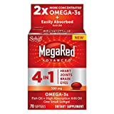 MegaRed Advanced 4in1 - Concentrated Omega-3 Fish & Krill Oil Supplement