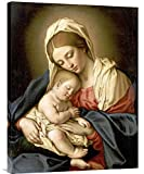 Global Gallery GCS-267231-30-142 ''Giovanni Battista Salvi The Madonna & Child'' Gallery Wrap Giclee on Canvas Wall Art Print