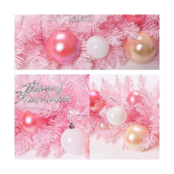 LSX– Wreaths Christmas Flower Vine, Christmas Supplies Pink Cherry Blossom Pink Christmas Rattan Cute Girl Heart Decoration Christmas Ornaments 2m Lights (Color : C)
