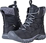 KEEN Women's Hoodoo III Lace up-w Snow Boot, Black/Magnet, 10.5 M US