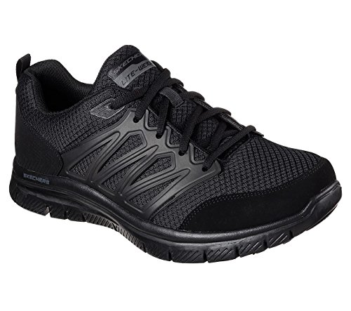 Skechers Sports Mens Mens Flex Fordel 1,0 Sheaks Måte Joggesko Sort / Sort