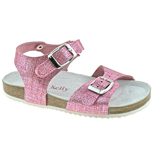 Lara Lk4584 Kelly Strap Adjustable Lelli 2 34 Sandals Glitter uk Pelle gc01 Rosa CBnfwYq
