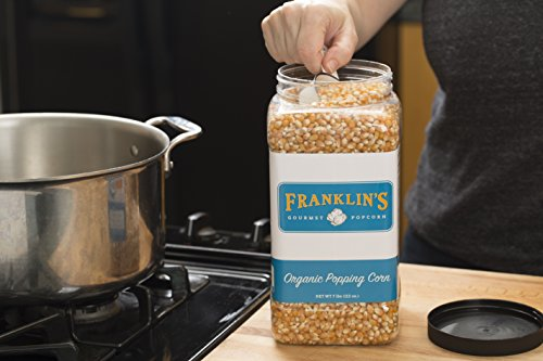 Franklin's Organic Popping Corn (7 lbs). Make Movie Theater Popcorn at Home. by Franklin's Gourmet Popcorn (Image #3)