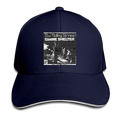 BestSeller The Rolling Stones Gimme Shelter Adjustable Sandwich Peaked Baseball Caps Hats For Unisex