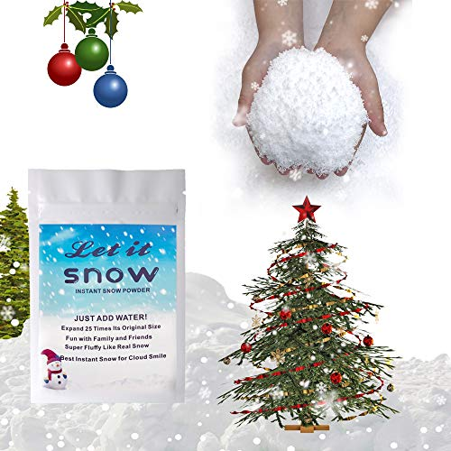 Snowy Instant Snow Fake Snow Fake Artificial Snow, Great Making Cloud Slime Fake Snow, Fake Instant Snow Powder, Christmas Decorations, Christmas Tree Snow