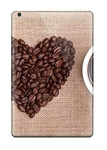 Lovers Gifts ED2EJX87HBJTLOO5 High Grade Flexible Tpu Case For Ipad Mini 2 - I Love Coffee