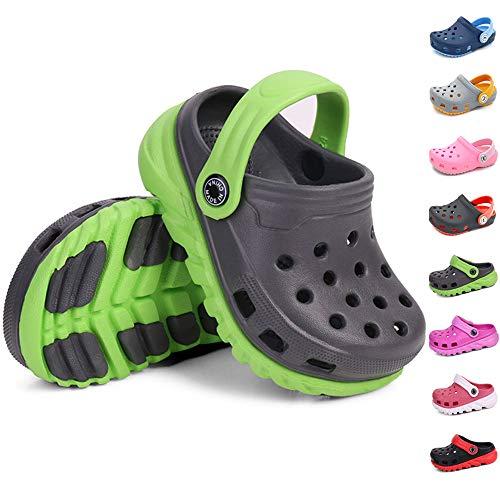 Sawimlgy Toddler Little Kids Comfort Clogs Slip On Garden Slippers Shoes Water Sandals Boys Girls Lightweight Pool Beach Play Shoe
