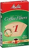 Melitta 620120 #1 Cone PA1-40 NB Filter Paper, Green 12-Pack