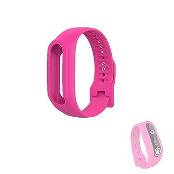 Hensych® Silicona Reemplazo Correa de pulsera deporte pulsera banda correas para TomTom Touch Smart reloj, color rosa (b): Amazon.es: Deportes y aire libre