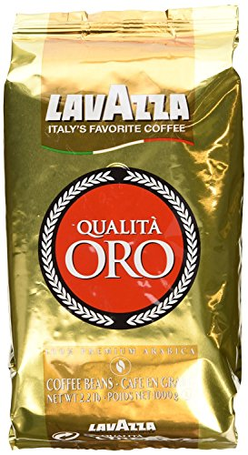 Lavazza Qualita Oro Italian Coffee Whole Beans 2.2 Pound - Pack of 2