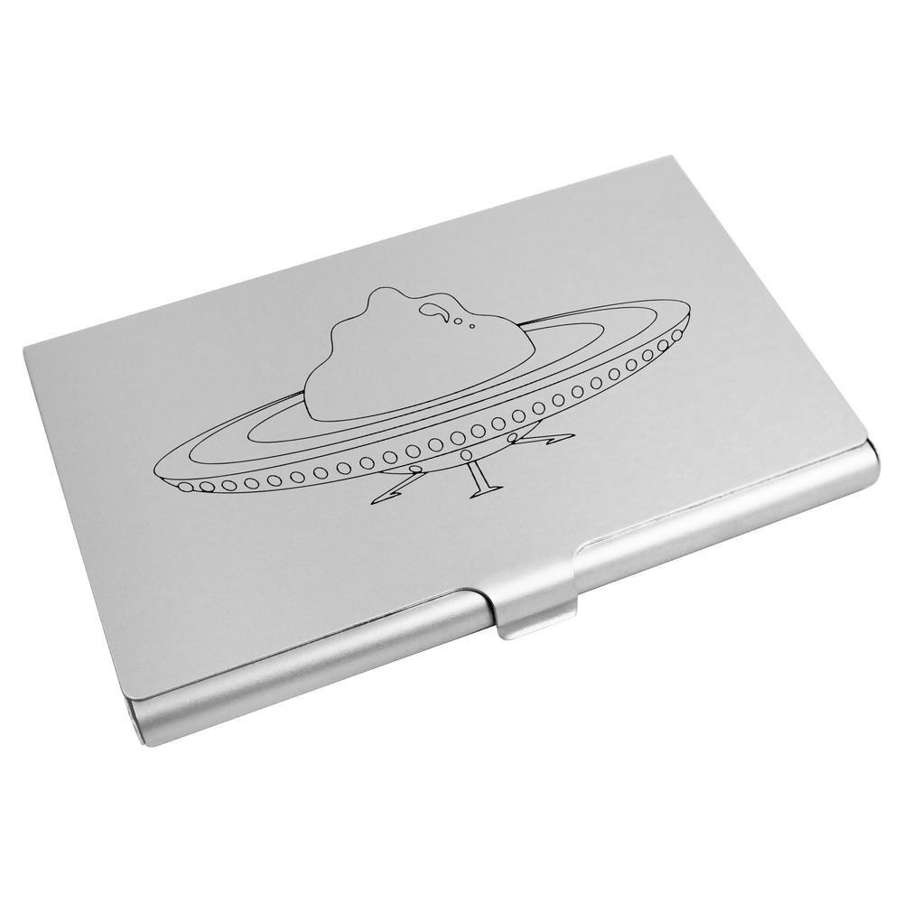 Azeeda \'Extraterrestre Vaisseau Spatial\' Porte Carte de Visite / Porte Carte de crédit (CH00004354)