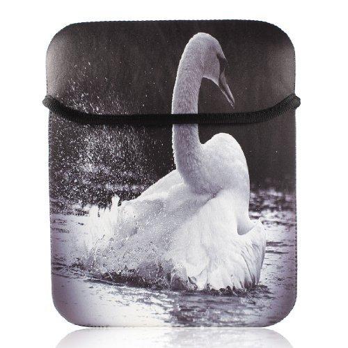 eDealMax 10 10,1 10,2 9 Netbook Laptop Swan Motif Manches Sac Case