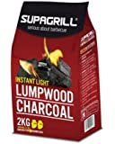 Supagrill 2 X 1KG Instant Light Charcoal Bags