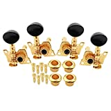 HJMusic 2L2R Acoustic Guitar Tuning Pegs Machine Head Tunner Keys for 4 String Ukulele