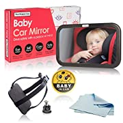 Baby Back Seat Mirror: View Infant in Rear Facing Car Seats. Backseat Mirrors