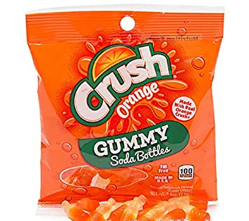 Orange Crush Gummy Soda Bottles 4.5-Ounce Candy Bag 1 Count