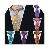 paisley ties for men wedding groomsmen neckties fashion party tie