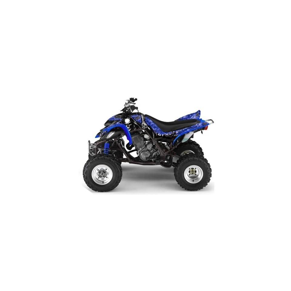 AMR Racing Yamaha Raptor 660 ATV Quad Graphic Kit   Reaper Blue