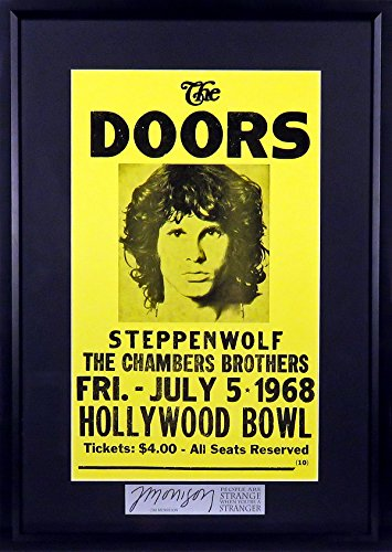 The Doors Concert Poster - The Doors @ Hollywood Bowl Concert Poster (SGA Signature Engraved Plate Series) Framed