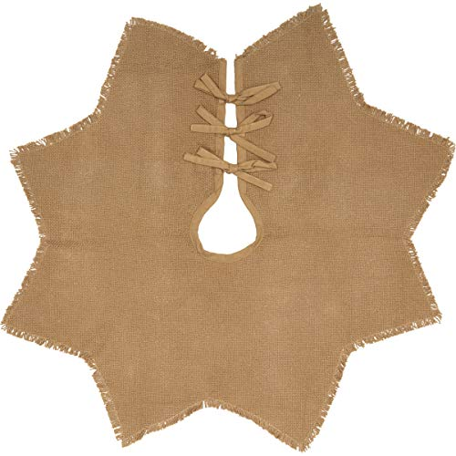 VHC Brands Farmhouse Burlap Natural Mini Tree Skirt, 21