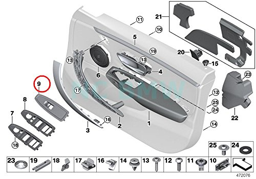 BMW Genuine Power Window Switch Finisher