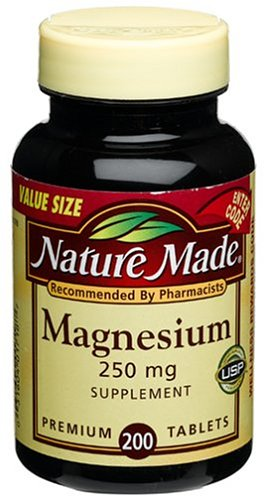 Nature Made Magnesium 250mg, 200 Tablets (Pack of 4) by Nature Made