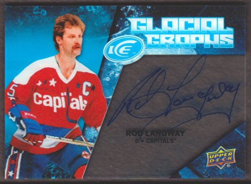 Graph Rod - 2017-18 Upper Deck Ice Hockey Glacial Graphs #GG-RL Rod Langway Auto Washington Capitals