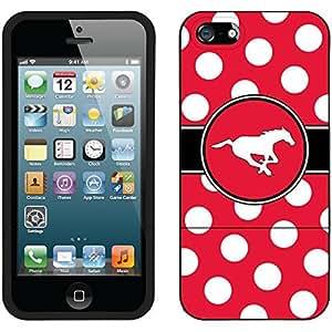Calgary Stampeders Polka Dots design on a Black iphone 6 plus / 5 Slider Case