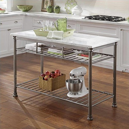 home styles orleans kitchen island with quartz top