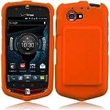 For Casio G'zOne Commando 4G LTE C811 Rubberized Hard Snap On Cover Case Orange