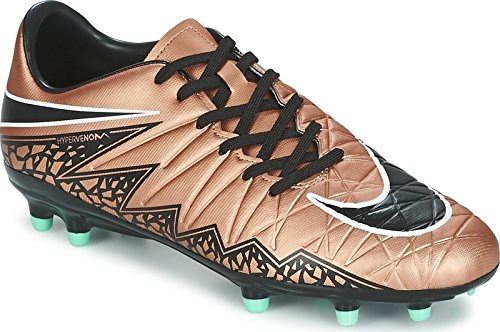 Nike Men's HyperVenom Phelon II (FG) Soccer Cleat Red Bronze/Green Glow/Black Size 10.5 M US
