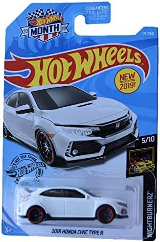 [해외]Hot Wheels 2018 Honda Civic Type R 171250 2019 Month Card White / Hot Wheels 2018 Honda Civic Type R 171250 2019 Month Card, White