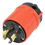 AC WORKS [ASL1420P] NEMA L14-20P 20Amp 125/250Volt 4Prong Locking Male Plug With UL, C-UL Approval