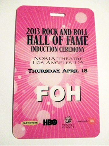2013 Rush Rock N Roll Hall of Fame Plastic Backstage Pass FOH Heart Donna Summer