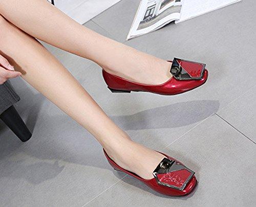 Talon Plat Femme Mode Carr Tire Aisun q67w6