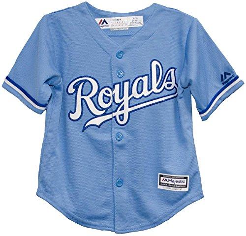 Majestic Athletic Replica Alternate Jersey - Majestic Kansas City Royals Light Blue Alternate Infant and Toddler Size Jerseys (2T)