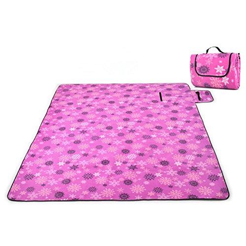 Melife® Folding Waterproof Outdoor Picnic Beach Camping Aluminum Foil Pad Mat Blanket (Snowflake)