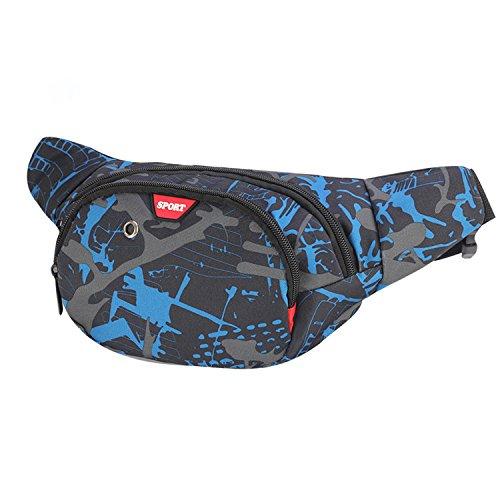 🥇 Resistente al agua riñonera bolsa de cintura 3 bolsillos con cremallera bolsa riñonera de viaje senderismo al aire libre deporte vacaciones dinero bolsa de cadera paquete