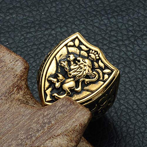 Dixinla Rings Steel , European and American Fashion Domineering Animal Lion Head Men Titanium Steel Ring Jewelry Gift for Family or Friends by Dixinla (Image #1)