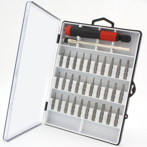 (Anytime Tools 30 pc MICRO PRECISION SCREWDRIVER SET w/ T4 T5 T6 Mini Torx, Hex, Flat, Pozi)