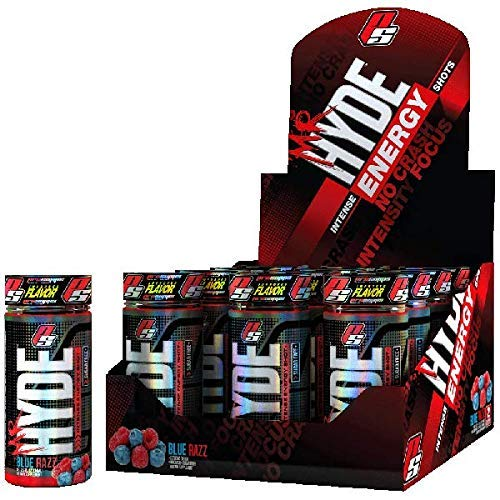 Pro Supps Mr Hyde Intense Energy Shots (12 Pack) (Blue Razz) by Mr Hyde