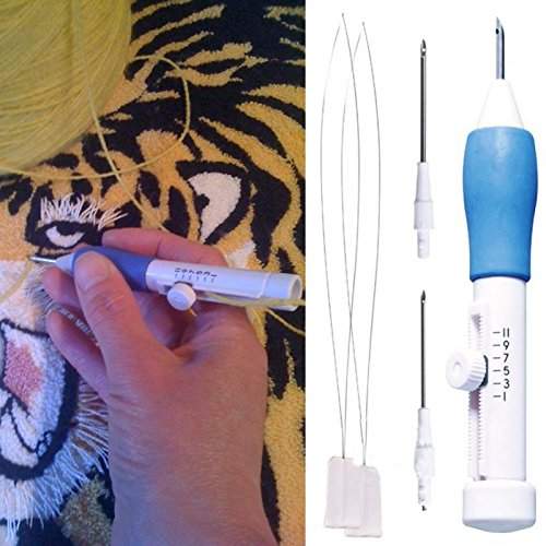 Home Embroidery Stitching Needle Punching Punch Craft Tool Kit 2 Threader Three Size 1.3mm 1.6mm 2.2mm -Pier 27