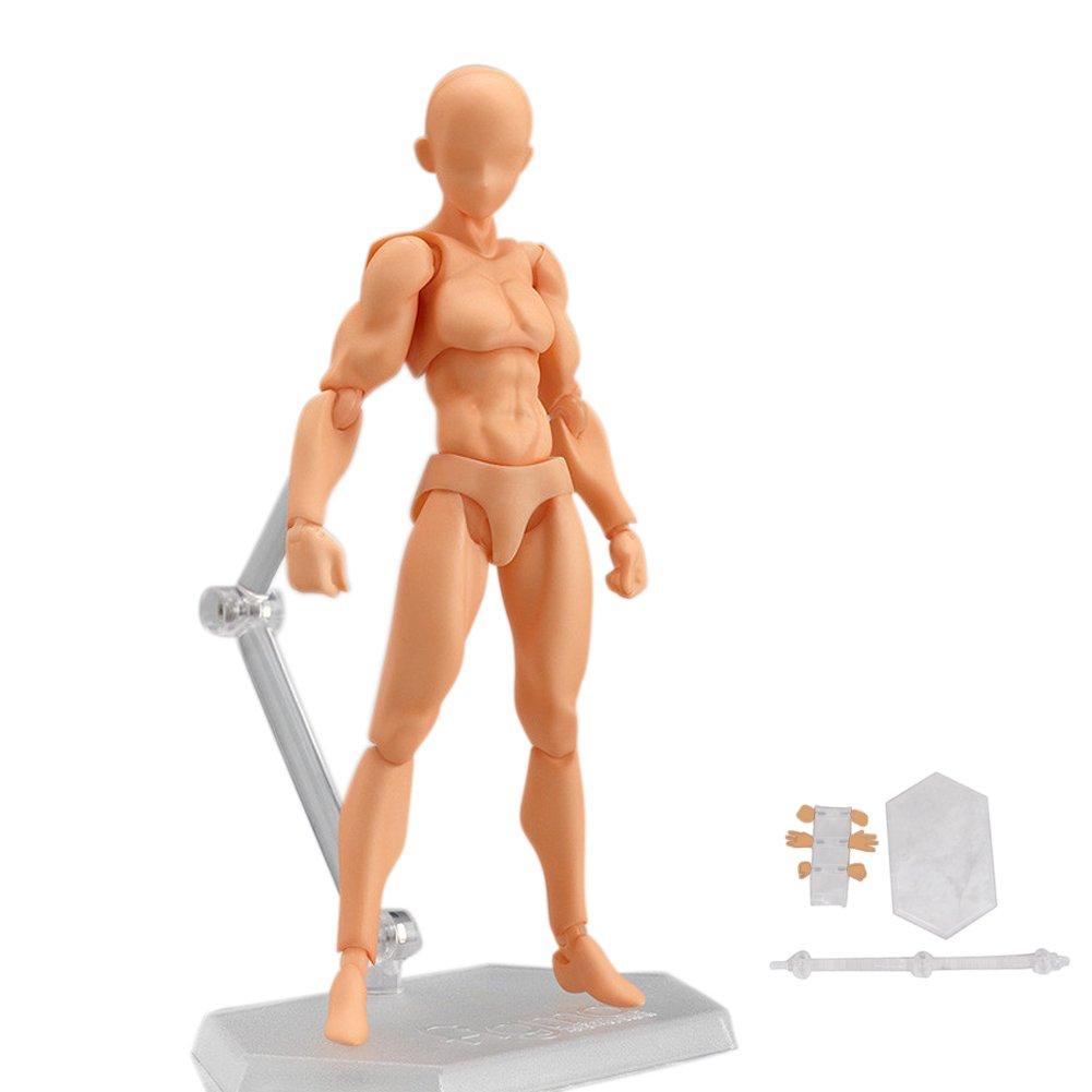 StarALL Action Figure Drawing Model Body Kun Chan Human Mannequin 13cm She/He Action Figure for Drawing Painting Sketching Artist Collection Gift